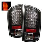 2008 Dodge Ram Black LED Tail Lights