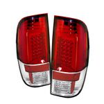 2008 Ford F250 Super Duty Red and Clear LED Tail Lights