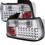 1996 BMW E36 Sedan 3 Series Clear LED Tail Lights