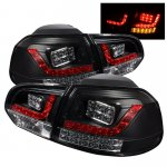 VW Golf 2010-2011 Black LED Tail Lights
