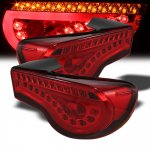 2013 Scion FRS Red LED Tail Lights