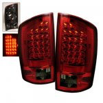 2009 Dodge Ram 2500 Red and Smoked LED Tail Lights