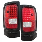 2002 Dodge Ram 3500 Red and Clear LED Tail Lights
