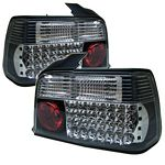 1996 BMW E36 Sedan 3 Series Black LED Tail Lights