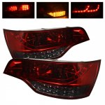 2009 Audi Q7 Red and Smoked LED Tail Lights