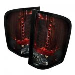 2007 Chevy Silverado 2500HD Red and Smoked LED Tail Lights