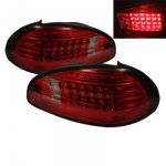 Pontiac Grand Prix 1997-2003 Red and Smoked LED Tail Lights