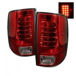 2012 Dodge Ram Red and Clear LED Tail Lights