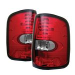 2007 Ford F150 Red and Clear LED Tail Lights