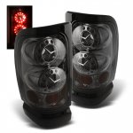 Dodge Ram 2500 1994-2002 Smoked Ring LED Tail Lights