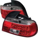 2000 BMW E39 5 Series Red and Clear LED Tail Lights