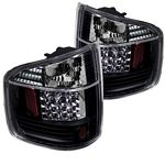2002 Chevy S10 Black LED Tail Lights