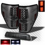 2011 Ford F150 Smoked LED Tail Lights and LED Third Brake Light