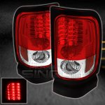 2000 Dodge Ram Red and Clear LED Tail Lights