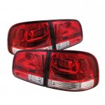 VW Touareg 2003-2007 Red and Clear LED Tail Lights