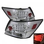 2008 Honda Accord Sedan Clear LED Tail Lights