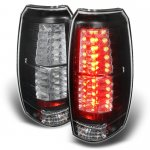 2009 Chevy Avalanche Black LED Tail Lights
