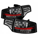 Audi A4 Sedan 2006-2008 Black LED Tail Lights