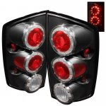 2002 Dodge Ram Black Ring LED Tail Lights
