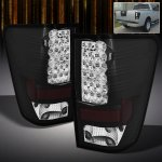 2012 Nissan Titan Black Philips Lumileds LED Tail Lights
