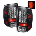 2010 Dodge Ram 2500 Black LED Tail Lights