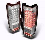 Hummer H3 2006-2009 Clear LED Tail Lights
