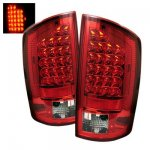 2009 Dodge Ram 2500 Red and Clear LED Tail Lights