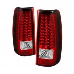 2000 Chevy Silverado Red and Clear LED Tail Lights