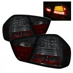 2007 BMW 3 Series E90 Sedan Smoked LED Tail Lights