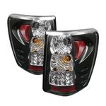 2000 Jeep Grand Cherokee Black LED Tail Lights