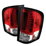 2012 Chevy Silverado Red and Clear LED Tail Lights