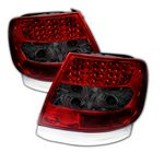 2001 Audi A4 Red and Smoked LED Tail Lights