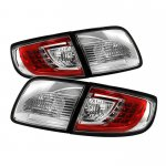 Mazda 3 Sedan 2003-2008 Red and Clear LED Tail Lights