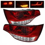 2009 Audi Q7 Red and Clear LED Tail Lights