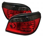 2007 BMW 5 Series E60 Red and Smoked LED Tail Lights