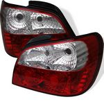Subaru Impreza 2002-2003 Red and Clear LED Tail Lights