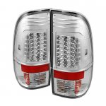 Ford F250 Super Duty 2008-2014 Clear LED Tail Lights