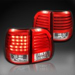 Lexus LX470 1998-2002 Red and Clear LED Tail Lights