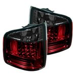 2002 Chevy S10 Red and Smoked LED Tail Lights