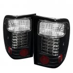 2001 Ford Ranger Black LED Tail Lights