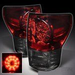 2011 Toyota Tundra Red and Smoked Ring LED Tail Lights