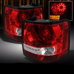 Land Rover Range Rover Sport 2006-2009 Red and Clear LED Tail Lights