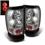 Dodge Ram 2500 1994-2002 Clear Ring LED Tail Lights