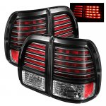 2001 Lexus LX470 Black LED Tail Lights