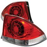 Lexus IS300 2001-2003 Red and Clear LED Tail Lights
