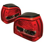 1994 VW Golf Red and Clear LED Tail Lights