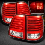 2003 Toyota Land Cruiser Red and Clear LED Tail Lights