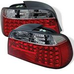 1995 BMW E38 7 Series Red and Clear LED Tail Lights