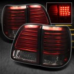 2003 Toyota Land Cruiser Red and Smoked LED Tail Lights