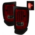 1997 Dodge Ram 2500 Red and Smoked LED Tail Lights